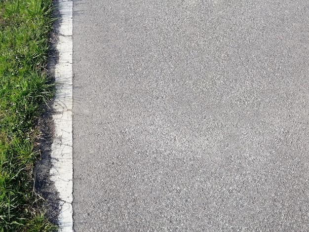 Fond de route et d'herbe
