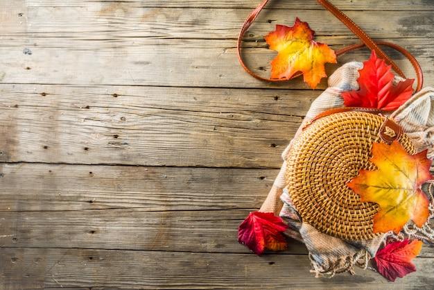 Fond rustique automne