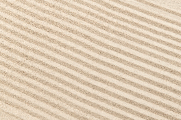 Fond de sable zen rayé dans le concept de santé et de bien-être