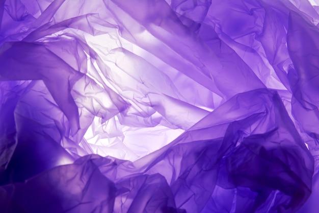 Fond de sac en plastique. texture violette, style grunge, fond texturé