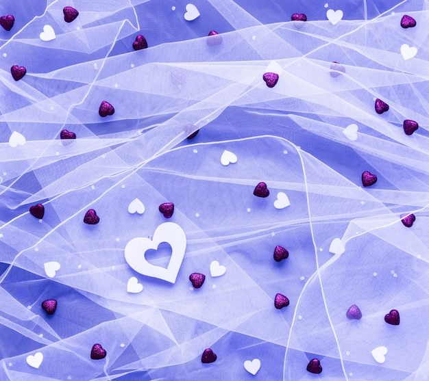 Fond saint-valentin, avec des coeurs et divers éléments romentiques