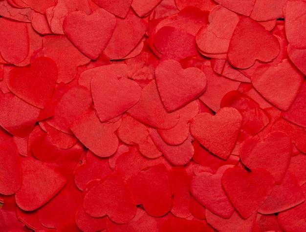 Fond de la saint-valentin avec des coeurs, fond de coeurs de carte