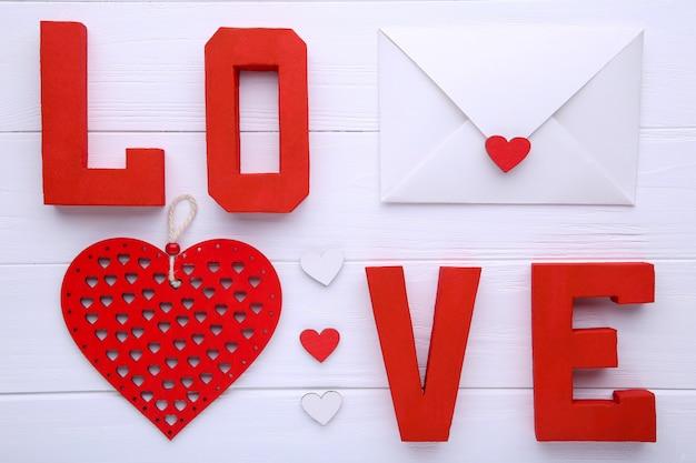 Fond de saint valentin avec décoration.