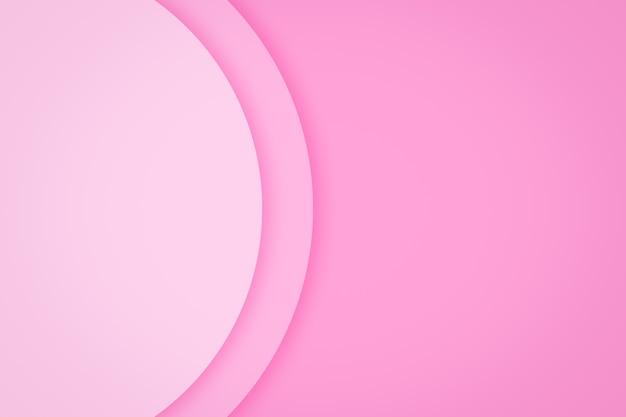Fond de saint valentin avec fond de couche de papier cercle rose abstrait.
