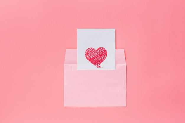 Fond de saint valentin avec foyer rose