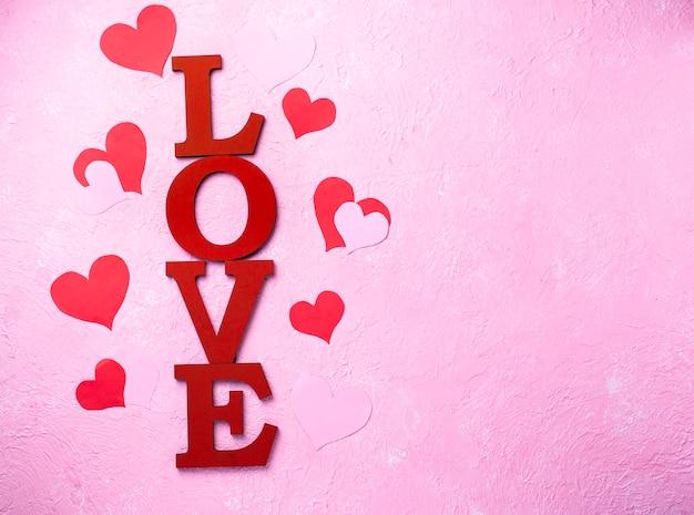 Fond de saint valentin avec des lettres amour