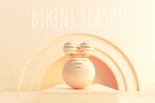 Fond de saison bikini 3d