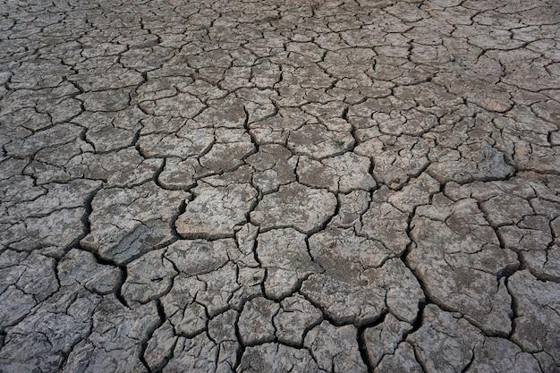 Fond de saison de sécheresse au sol fissuré