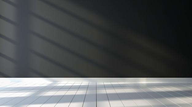 Fond de salle de mur noir de l'espace propre vide