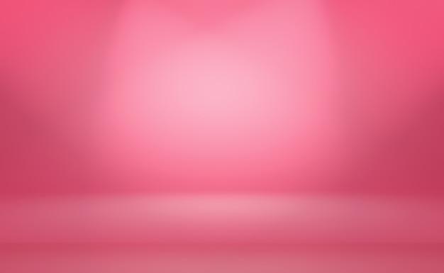 Fond de salle de studio abstrait rose clair lisse vide
