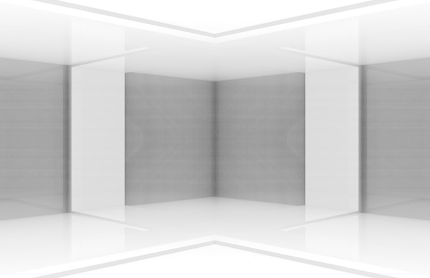 Fond de scène de tableau blanc moderne.