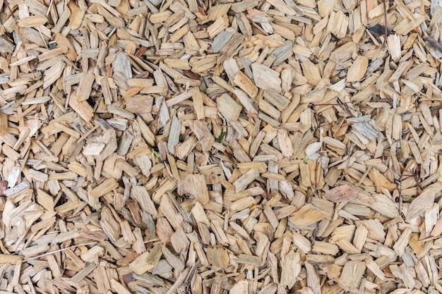 Fond de sciure de bois, surface naturelle dans le parc