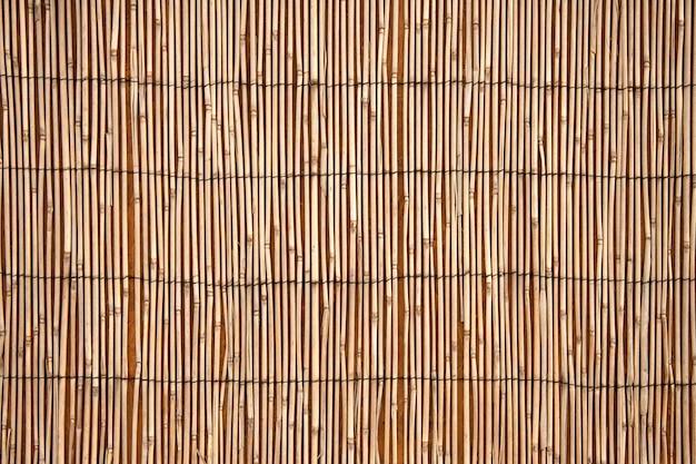 Fond de serviette en bambou, vue de dessus