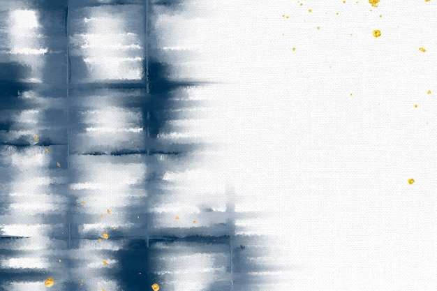 Fond shibori avec bordure bleu indigo