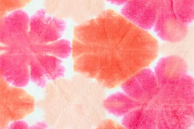 Fond de shibori orange et rose