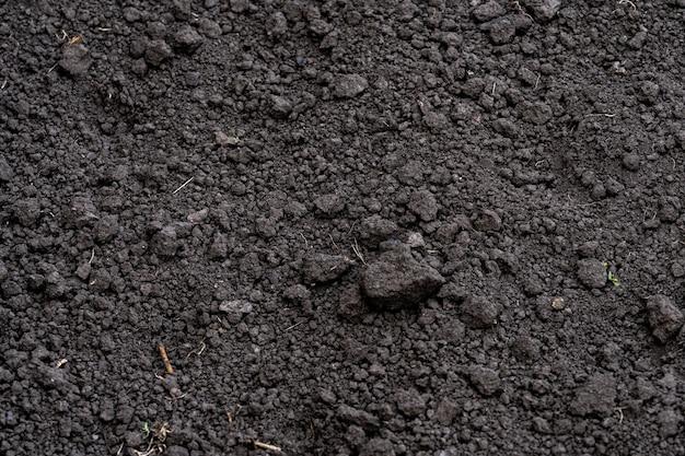 Fond de sol. creuser le sol. chernozem. terrain pour planter des plantes