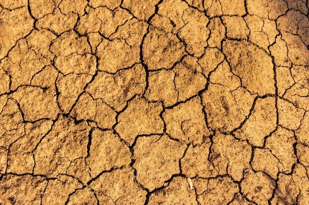 Fond de sol fissuré