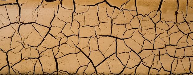 Fond de sol sec, texture de fissure