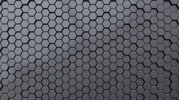 Fond sombre abstrait géométrique hexagone.