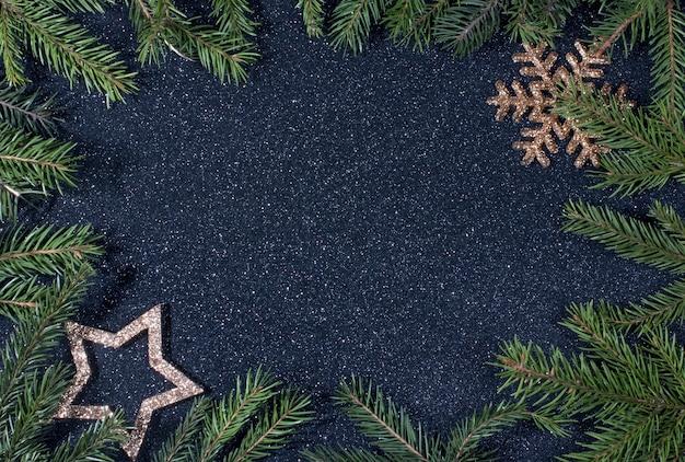 Fond sombre du nouvel an pour la publicité de noël