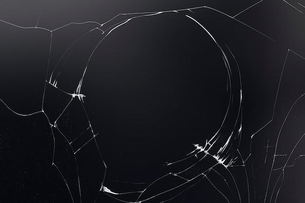 Fond sombre avec texture de verre fissuré