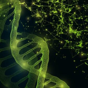 Fond de structure de molécule d'adn.