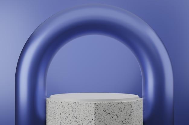 Fond de studio de podium de luxe violet premium pour l'affichage du produit. scène de fond abstrait rendu 3d pour la publicité du produit.