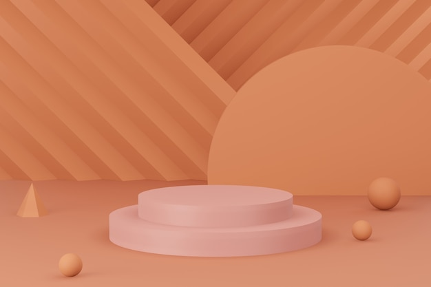 Fond de studio de podium minimal premium pour l'affichage du produit. scène de fond abstrait rendu 3d pour la publicité du produit.