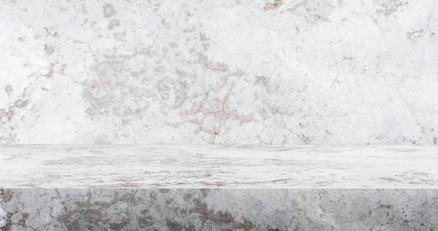 Fond de studio de table en béton fissure 3d texturé pour l'affichage de produit