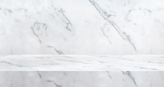Fond de studio de table en marbre de luxe 3d texturé pour l'affichage de produit