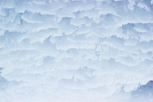 Fond de style d'hiver abstrait flocon de neige glace.
