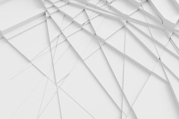 Fond de la surface coupé en plusieurs polygones différents, projetant une illustration 3d de l'ombre