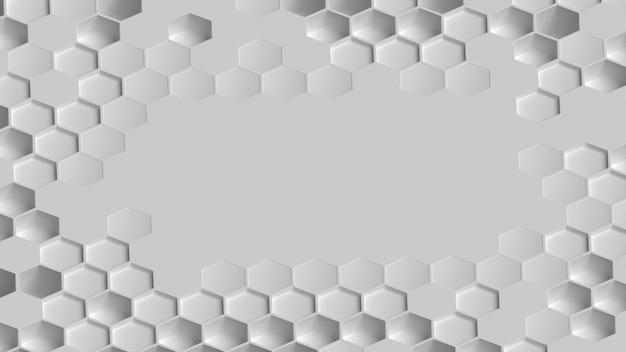 Fond de surface géométrique blanche