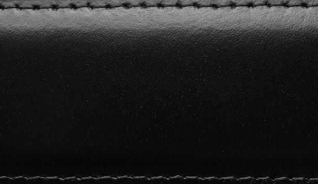 Fond de surface de texture de cuir noir de luxe