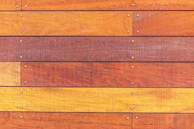 Fond de surface de vieilles planches de bois. texture orange
