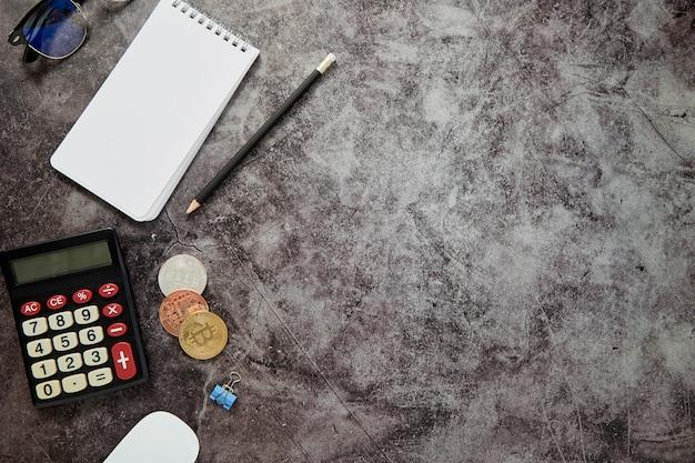Fond de table de bureau en ligne business finance