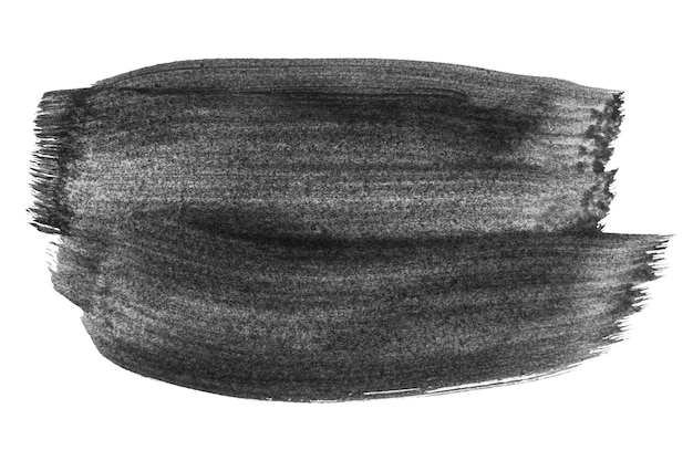 Fond de tache aquarelle aquarel abstrait noir isolé sur blanc. coups de pinceau aquarelle acrylique noir.