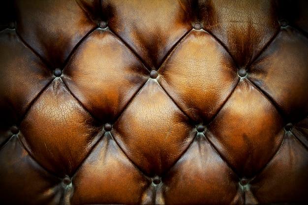 Fond de tapisserie d'ameublement en cuir marron