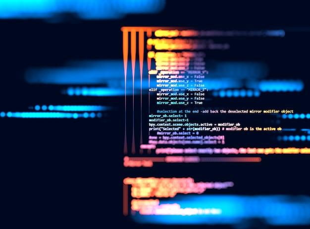 Fond de technologie abstrait de code de programmation