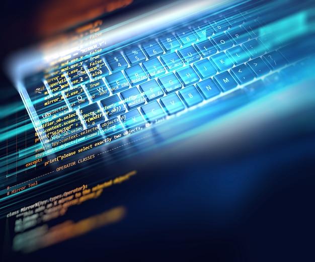 Fond de technologie abstraite du code de programmation