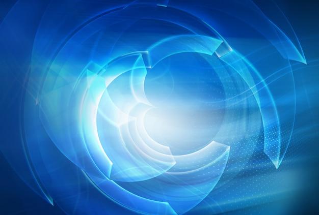 Fond de technologie abstraite numérique