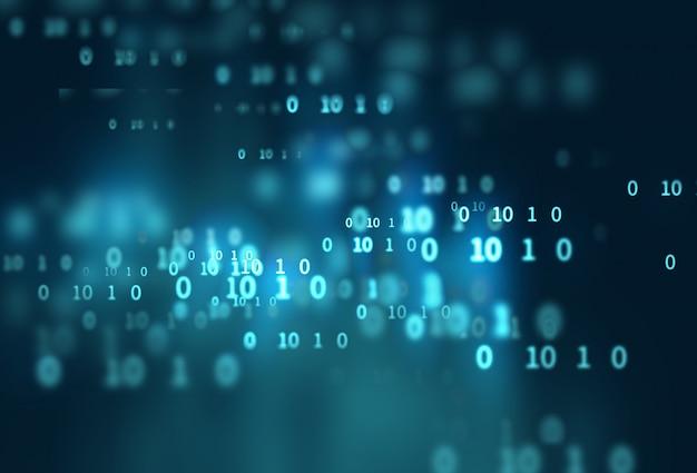 Fond de technologie abstraite numéro de code numérique