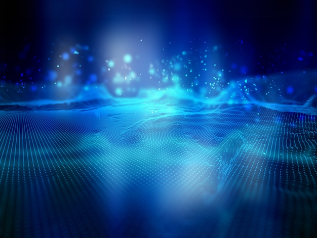 Fond de technologie de connexions réseau
