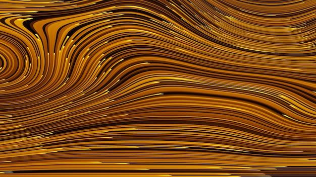 Fond de technologie de rendu 3d abstrait avec des lignes de flux de données volumineuses et science, style électronique et numérique, perspective dimensionnelle du réseau filaire.