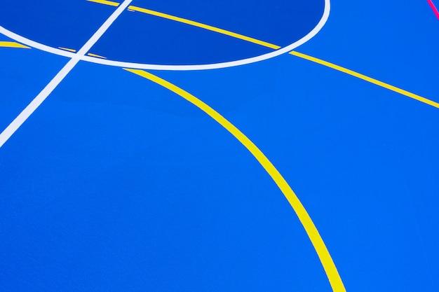 Fond de terrain de basket bleu intense