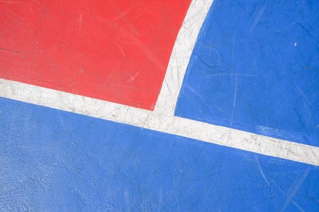 Fond de terrain de basket, étage de basket-ball avec des lignes de marquage