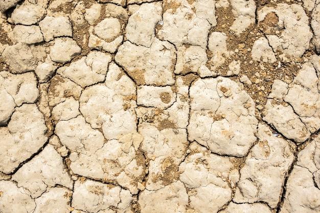 Fond de terre de crack séchée pendant la sécheresse avec une bonne texture