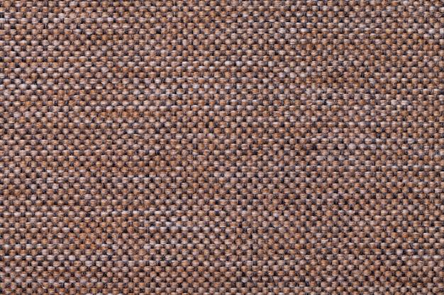 Fond textile marron foncé à damier
