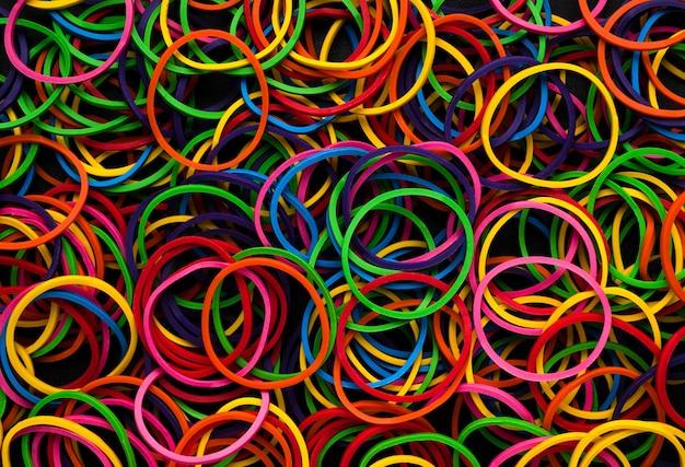 Fond de texture abstrait bandes de caoutchouc polychrome