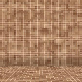 Fond de texture abstraite mosaïque marron lisse